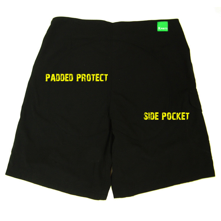 Quick dry microfibre padded paddling shorts - back view