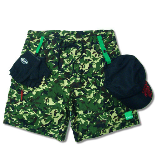 Quick dry microfibre padded paddling shorts - camouflage