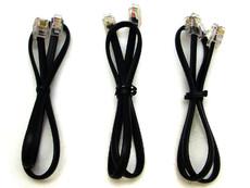 Plantronics Line Cords - Lot of Three