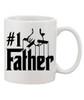 #1 Father / Ceramic Coffee Mug/Godfather Style Lettering Yo Dad I Love Yu