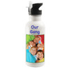 School Water Bottle / Sports Bottle - Custom Personalized w/ Your Picture, Design & Name