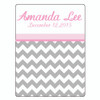 """Custom Personalized Baby Fleece Blanket-30""""x40  w/ Your Photos, Pictures, Names, Dates"""