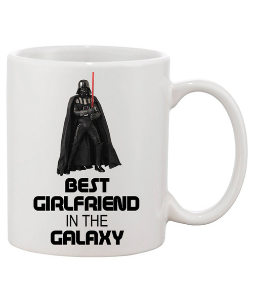 Best Girlfriend in the Galaxy Ceramic Coffee Mug..The Force is Strong in This One