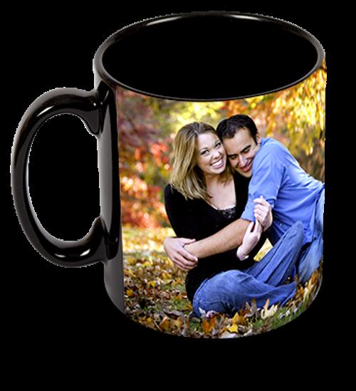 Custom Personalized 15oz Black Ceramic Mug w/ Your Photo's, Logo, Design