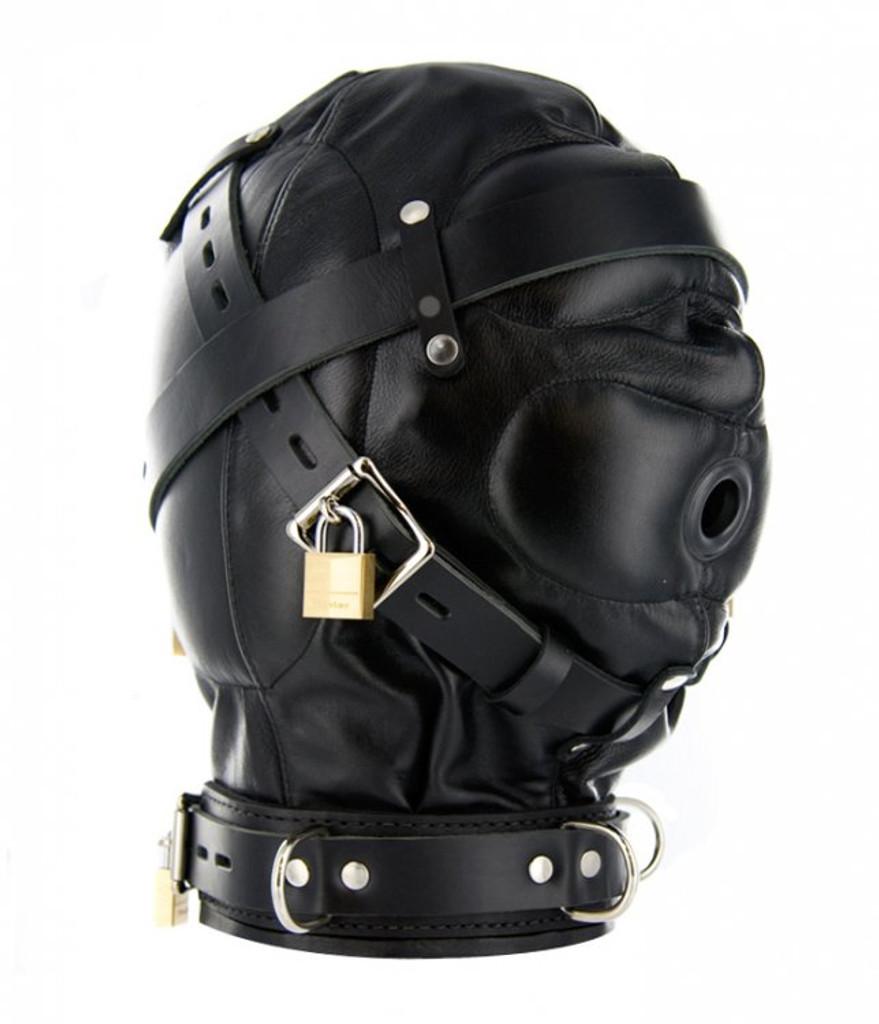 Strict Leather Sensory Deprivation Hood - ML