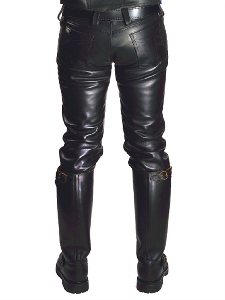 Mister B Leather Jeans Zip