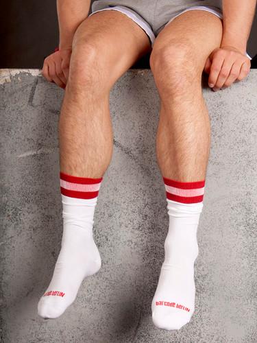 City Socks - White & Red