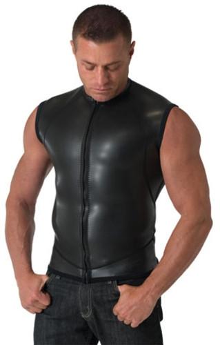 Neoprene Moto Vest Zip Smooth