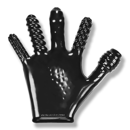 Finger Fuck Textured Glove - Black