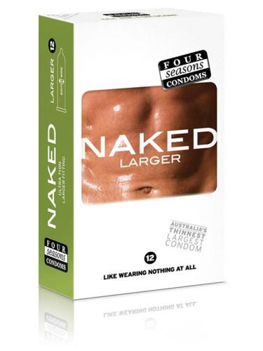 Four Seasons Naked Larger Condoms 12PK