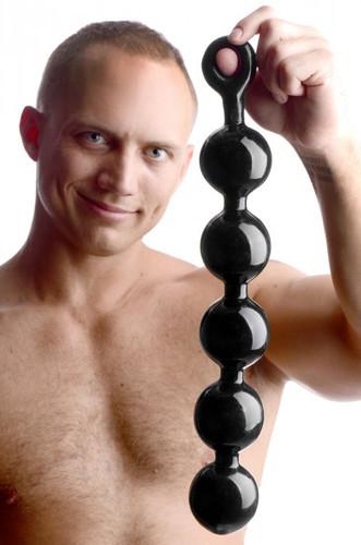 Black Baller Anal Beads