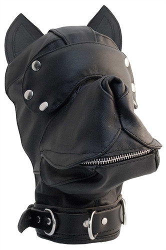 Mister B Leather Dog Hood Black/Black
