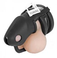 Sado Shadow Locking Silicone Male Chastity Device