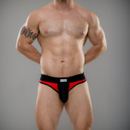 Full V Brief - Red & Black - Jake