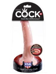 "King Cock Plus Dual Density 7"" Cock - Flesh"