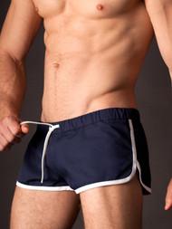 Gym Short Barcode - Navy