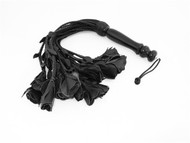 Leather Flogger 18 Tails Wooden Handle