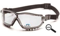 Pyramex #GB1810STR25 V2G Safety Eyewear w/ 2.5 Fog Free Clear Lens