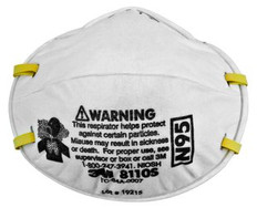 3M 8210 SMALL n95 Respirators (Actual Part number 8110S) 20 ct