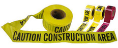 Allsafe SMC Barrior Tape, Caution Construction Area, Yellow