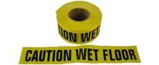 Allsafe SMC Barrior Tape, Caution Wet Floor, Yellow