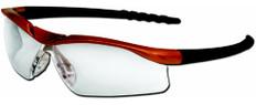 MCR Crews #DL210AF Dallas Safety Eyewear Orange Frame w/ Fog Free Clear Lens