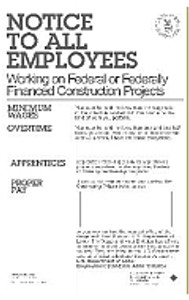Davis-Bacon Poster (Government Construction)