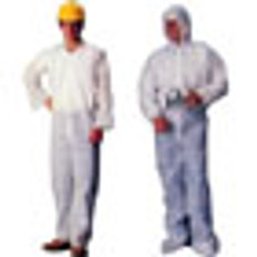 Polypropylene Standard Weight Coveralls with Hood, Boots and Elastic Wrists (5 SAMPLE PACK)
