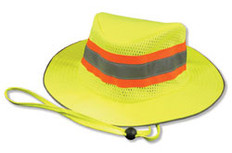ERB #61587 Safety Helmet Boonie Reflective Hats - Lime Color