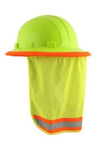 ERB #19281 Safety Helmet Reflective Neck Shades - Lime