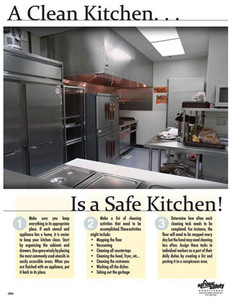 Clean Kitchen Poster (24 by 32 inch)