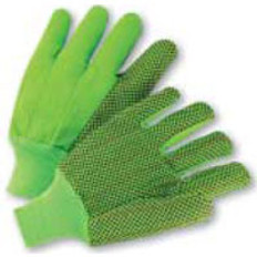 Polychord Glove with Black Dots on One Side - Lime- (Sold by the Dozen)