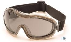 Pyramex #G724T Capstone Low Profile Safety Eyewear Goggles w/ Smoke Lens