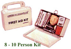 8-10 Person Economy First Aid Kit (Plastic)
