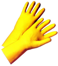 Latex Flock Lined 18 Mil Glove 12 inch length (sold by the dozen)