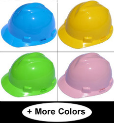 MSA V-Guard Cap With Staz-On Liners (Standard Size) (Assorted Colors)