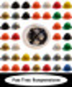 MSA V-Guard Full Brim Hats with Fas-Trac III Ratchet Liners