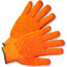 100% Polyester with Orange Honeycomb Grip (sold by the dozen)