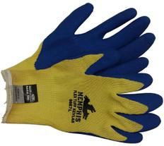 Kevlar stiched glove, Bear Kat w/ Blue latex palm (1 dozen pair) (sold by the dozen)
