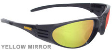 Dewalt #DPB556B-Y Ventilator Safety Eyewear Black Frame w/ Yellow Mirror Lens