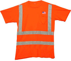 Class Three Level 2 ORANGE safety SHIRTS with Silver stripes