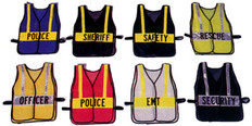 Reflective Patch Pre-Printed Safety Vests w/ Lime, Silver, or Orange Stripes