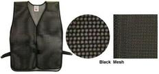 PVC Coated Assorted Colors Plain Vest – Black