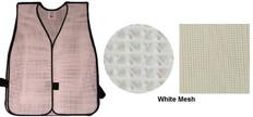PVC Coated Assorted Colors Plain Vest – White