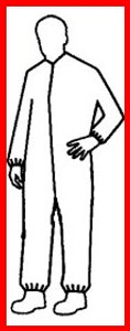 Pyrolon Plus II SMS Coveralls w/ Elastic Wrists and Ankles (25 per case)