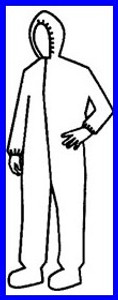 Pyrolon Plus II SMS Coveralls w/ Hood, Boots, & Elastic Wrists (25 per case)