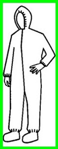 Pyrolon Plus II SMS Coveralls w/ Hood, Elastic Wrists and Ankles (25 per case)