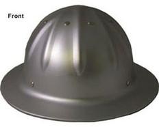 Aluminum Full Brim Hard Hat w/Ratchet Suspension