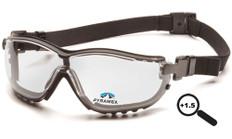 Pyramex #GB1810STR15 V2G Safety Eyewear w/ 1.5 Fog Free Clear Lens