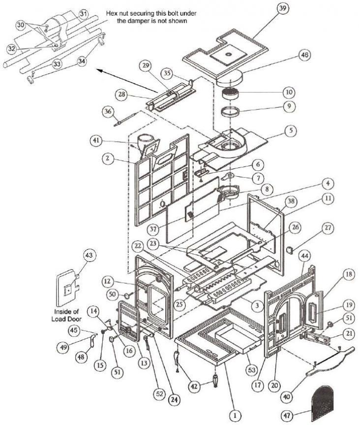 Stove Parts Consolidated Dutchwest Parts Xl 288ccl